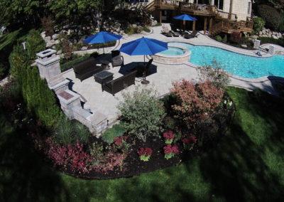 Backyard Pool Landscape, Shelby Township