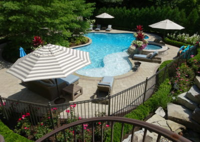 Backyard Pool Landscape, Macomb County